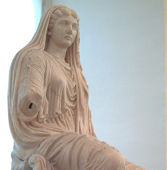 A statue of Livia Drusilla, from Paestum, Greece.