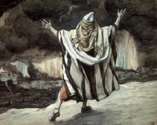 James Tissot's Abraham overlooking Sodom